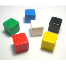 "Dice D6 «Blank"" 16mm: different colors (in stock)"