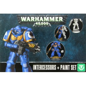 "Настольная игра ""Warhammer 40.000. Intercessors & Paint Set"""