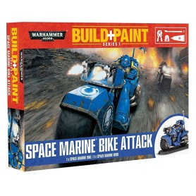 "Настольная игра ""Warhammer 40.000. Build+Paint: Space Marines Bike Attack"""