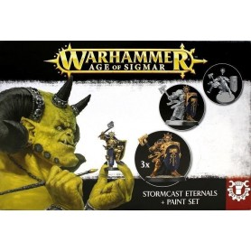"Настольная игра ""Warhammer. Age of Sigmar. Stormcast Eternals+ Paint set"""