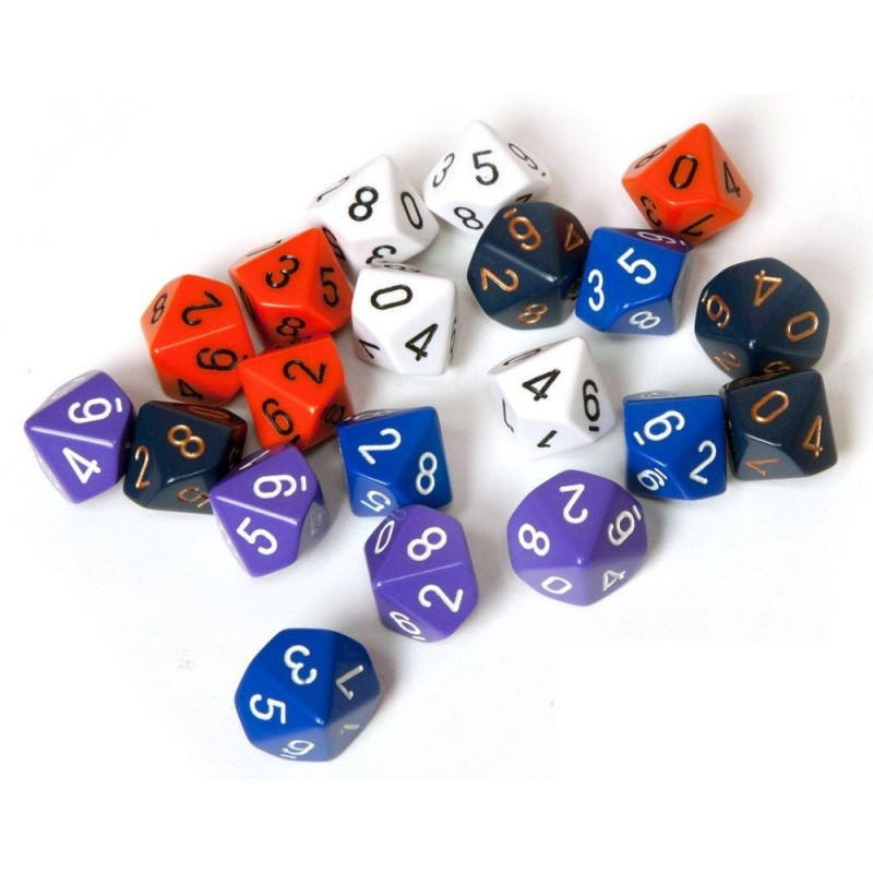 """Cube D10 «Opaque"""": different colors (in stock)"""
