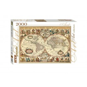 """Puzzle """"Historical Map of the world"""""""